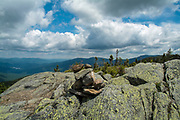 Scenic view from Howker Ridge Trail in the White Mountains of New Hampshire.
