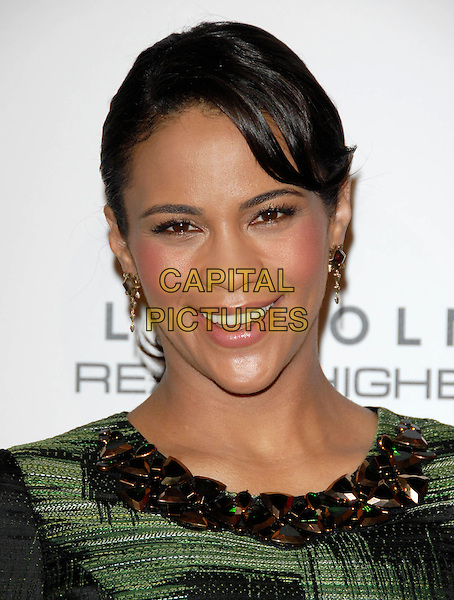 PAULA PATTON.The Third Annual ESSENCE Black Women In Hollywood Luncheon held at The Beverly Hills Hotel in Beverly Hills, California, USA..March 4th, 2010                                                                    .headshot portrait white black gold collar   .CAP/RKE/DVS.©DVS/RockinExposures/Capital Pictures.