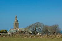 Rame Church near the Rame Head Peninsula, Cornwall