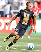 Fred #7 of the Philadelphia Union against Toronto FC during an MLS match at PPL stadium in Chester, Pa. on July 17 2010. Union won 2-1 on a last minute penalty kick goal.