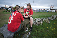 Two Polish Scouts are taking in Autumn subcamp.
