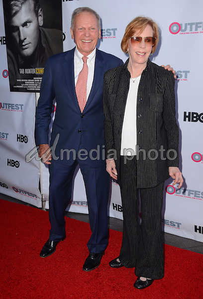 "11 July 2015 - West Hollywood, California - Tab Hunetr, Carol Burnett. Arrivals for the 2015 Outfest Los Angeles LGBT Film Festival screening of ""Tab Hunter Confidential"" held at The DGA Theater. Photo Credit: Birdie Thompson/AdMedia"