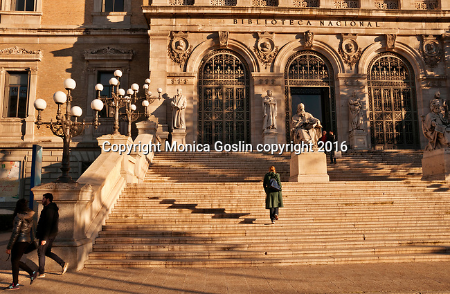 National Library, founded by King Philip V in 1712 in Madrid, Spain