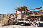 Old delivery truck at China Ranch Date Farm, near Tecopa, California
