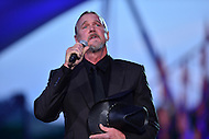 Washington, DC - May 28, 2016: Country music singer Trace Adkins performs a song dedicated to those buried at Arlington National Cemetery during the National Memorial day concert dress rehearsal on the west lawn of the U.S. Capitol in the District of Columbia, May 28, 2016.  (Photo by Don Baxter/Media Images International)
