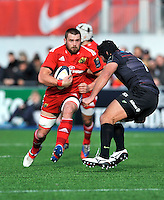 Hendon, England. CJ Stander of Munster in action during the European Rugby Champions Cup match between Saracens and Munster at Allianz Park stadium on January 17, 2015 in Hendon, England.