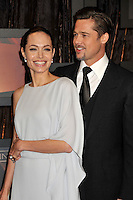 20 September 2016 - Los Angeles, CA - Angelina Jolie Pitt has filed for divorce from Brad Pitt. Jolie Pitt, 41, filed legal docs Monday citing irreconcilable differences. Jolie Pitt requested physical custody of the couple's shared six children – Maddox, Pax, Zahara, Shiloh, Vivienne, and Knox – asking for Pitt to be granted visitation, citing legal documents. File Photo: 08 January 2009 - Santa Monica, CA - Angelina Jolie and Brad Pitt. 14th Annual Critics Choice Awards at the Santa Monica Civic Auditorium. Photo Credit: Byron Purvis/AdMedia