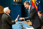 King Felipe VI of Spain and Frank O. Gerhy attended the 'Prince of Asturias Awards 2014' ceremony at the Campoamor Theater on October 24, 2014 in Oviedo, Spain.