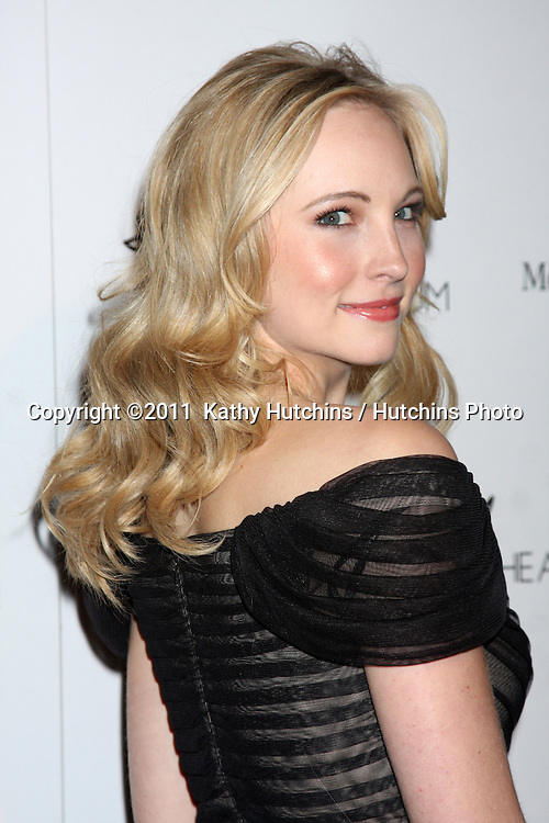 LOS ANGELES - JAN 15:  Candice Accola arrives at the Art Of Elysium 'Heaven' Gala 2011 at The California Science Center Exposition Park  on January 15, 2011 in Los Angeles, CA