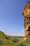 "Israel, Lower Galilee, Wadi Amud, a view from ""Skull"" cave"