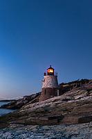 Castle Hill lighthouse, Newport, RI, Rhode Island, USA
