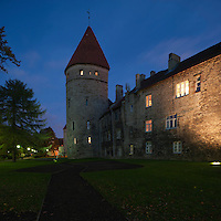 City wall and tower, Tallinn, Estonia