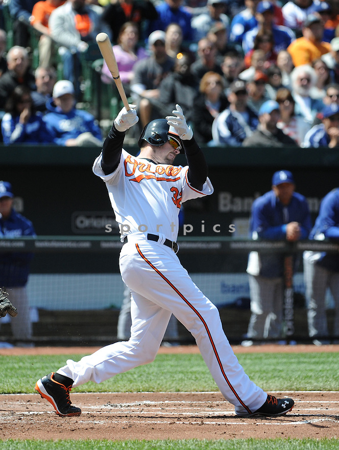 Baltimore Orioles Matt Wieters (32)  during a game against the Los Angeles Dodgers on April 21, 2013 at Oriole Park in Baltimore, MD. The Dodgers beat the Orioles 7-4.