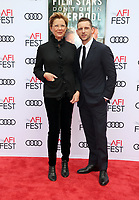 HOLLYWOOD, CA - NOVEMBER 12: Annette Bening and Jamie Bell at the Film Stars Won't Die In Liverpool Special Screening AFI Fest 2017 at the TCL Chinese Theatre in Hollywood, California on November 12, 2017. Credit: Faye Sadou/MediaPunch /NortePhoto.com