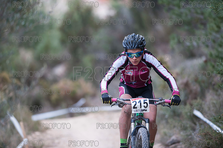 Chelva, SPAIN - MARCH 6: Adrian Martinez during Spanish Open BTT XCO on March 6, 2016 in Chelva, Spain