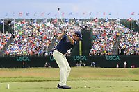 Brandt Snedeker (USA) tees off the par3 9th tee during Saturday's Round 3 of the 117th U.S. Open Championship 2017 held at Erin Hills, Erin, Wisconsin, USA. 17th June 2017.<br /> Picture: Eoin Clarke | Golffile<br /> <br /> <br /> All photos usage must carry mandatory copyright credit (&copy; Golffile | Eoin Clarke)