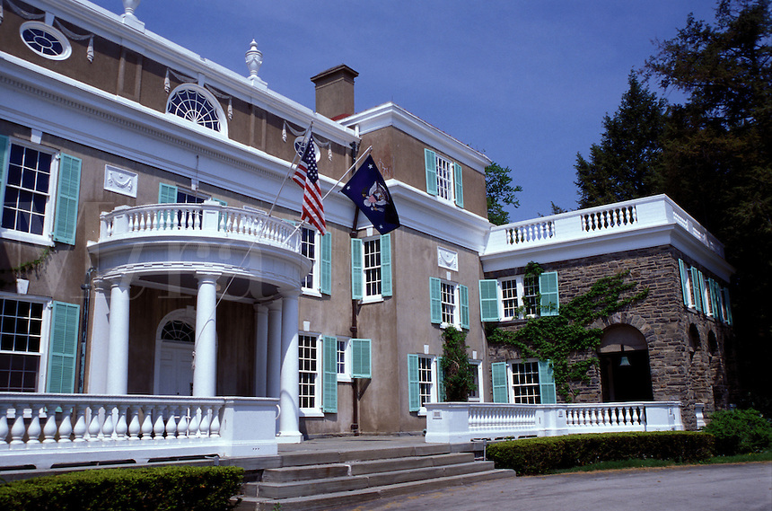 Franklin D. Roosevelt, Hyde Park, New York, Home of Franklin Delano Roosevelt National Historic Site in Hyde Park, New York.