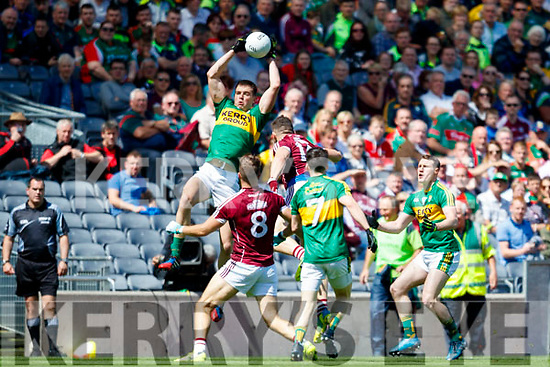 Jack Barry Kerry in action against Damien Comer Galway in the All Ireland Senior Football Quarter Final at Croke Park on Sunday.