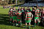 With the score 11 - 6 to Patumahoe the players take a well earned halftime break. Manukau Premier Club Rugby final between Patumahoe & Waiuku played at Bayers Growers Stadium Pukekohe on Saturday August 8th 2009. Patumahoe won 11 - 9 after leading 11 - 6 at halftime.
