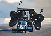Oct 19, 2019; Ennis, TX, USA; NHRA top fuel driver Mike Salinas during qualifying for the Fall Nationals at the Texas Motorplex. Mandatory Credit: Mark J. Rebilas-USA TODAY Sports