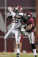 NWA Media/ J.T. Wampler -  Alabama's Landon Collins comes down with a pass intended for Arkansas' Jonathan Williams in the fourth quarter of the Hogs' 14-13 loss to the Crimson Tide.