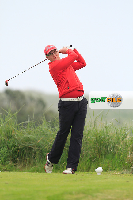 Craig Melvin (Corrstown) on the 10th tee during Round 1 of the East of Ireland in the Co. Louth Golf Club at Baltray on Saturday 31st May 2014.<br /> Picture:  Thos Caffrey / www.golffile.ie