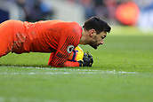 2nd February 2019, Wembley Stadium, London England; EPL Premier League football, Tottenham Hotspur versus Newcastle United; Hugo Lloris of Tottenham Hotspur collects the ball