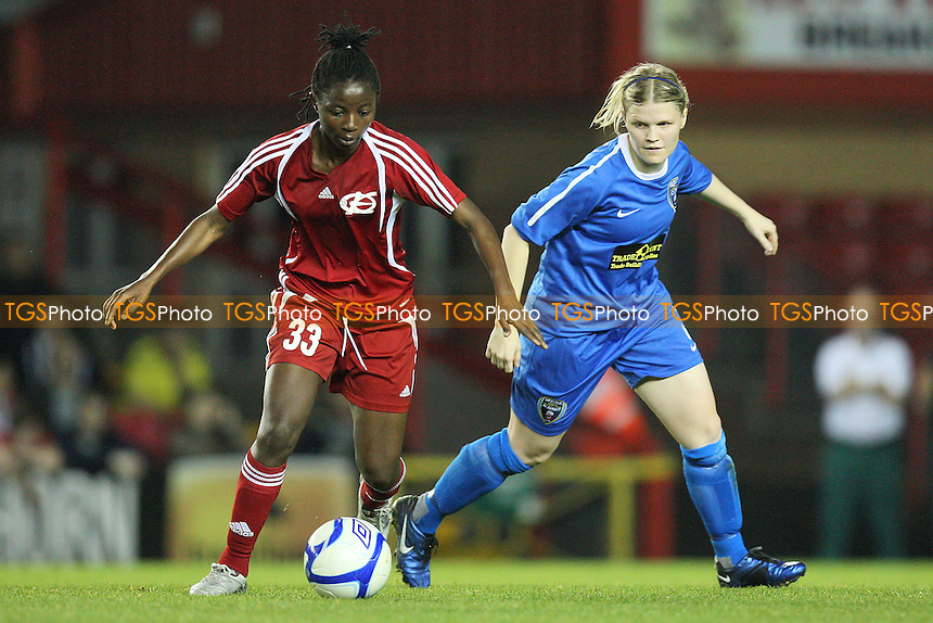 Njoya Nchout of Energiya Voronezh on the ball - Bristol Academy vs Energiya Voronezh - UEFA Women's Champions League Round of 32 First Leg at Ashton Gate, Bristol City FC - 29/09/11 - MANDATORY CREDIT: Gavin Ellis/TGSPHOTO - Self billing applies where appropriate - 0845 094 6026 - contact@tgsphoto.co.uk - NO UNPAID USE.