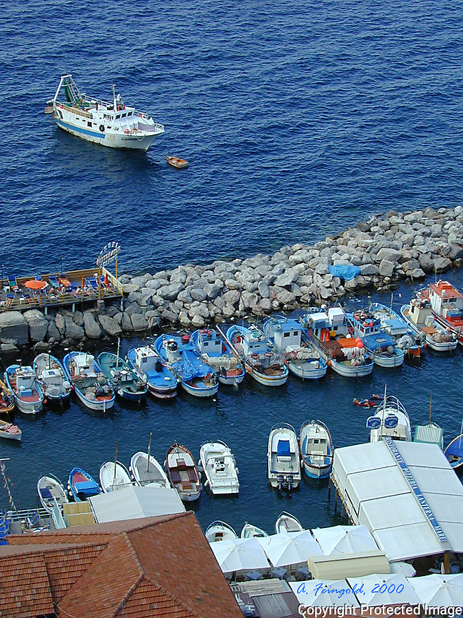 Sorrento Italy,  Mediterranean Sea, Port in Sorrento, Southern Italy, Fisherman's Port<br />