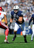 10 October 2015:  Penn State DE Carl Nassib (95) rushes the quarterback. The Penn State Nittany Lions defeated the Indiana Hoosiers 29-7 at Beaver Stadium in State College, PA. (Photo by Randy Litzinger/Icon Sportswire)