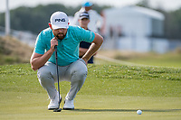 Liam Johnston (SCO) in action on the 2nd hole during the final round at the KLM Open, The International, Amsterdam, Badhoevedorp, Netherlands. 15/09/19.<br /> Picture Stefano Di Maria / Golffile.ie<br /> <br /> All photo usage must carry mandatory copyright credit (© Golffile | Stefano Di Maria)