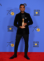 Aziz Ansari at the 75th Annual Golden Globe Awards at the Beverly Hilton Hotel, Beverly Hills, USA 07 Jan. 2018<br /> Picture: Paul Smith/Featureflash/SilverHub 0208 004 5359 sales@silverhubmedia.com