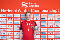 Picture by Allan McKenzie/SWpix.com - 17/12/2017 - Swimming - Swim England Nationals - Swim England National Championships - Ponds Forge International Sports Centre, Sheffield, England - Joe Litchfield with gold in the mens 200m individual medley.