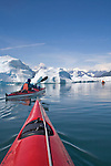 Alaska, Prince William Sound, Sea kayakers, Columbia Bay, Columbia Glacier, Icebergs, Brash Ice, Chugach Mountains, USA, Elliot Marks, Galen Tritt, released,.
