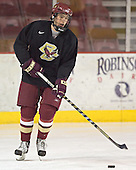 Tim Kunes - Boston College's morning skate on Saturday, December 31, 2005 at Magness Arena in Denver, Colorado.  Boston College defeated Princeton that night to win the Denver Cup.