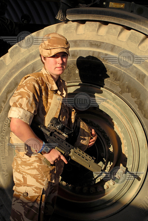 Craftsman Miller of the REME (Royal Electrical and Mechanical Engineers) 12th Logistic Support Battalion.