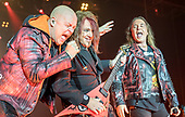 HELLOWEEN - L-R: Michael Kiske, Kai Hansen, Andi Deris - performinglive on the Pumpkins United World Tour 2017/2018 at the Ruhrcongress in Bochum Germany - 24 Nov 2017.  Photo credit: Thorsten Seiffert/IconicPix