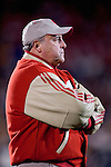 WEST LAFAYETTE, IN - OCTOBER 16: Head coach Barry Alvarez of the Wisconsin Badgers against the Purdue Boilermakers at Ross-Ade Stadium in West Lafayette, Indiana on October 16, 2004. Wisconsin beat Purdue 20-17. (Photo by David Stluka)
