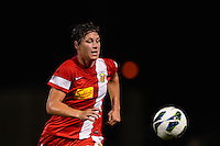 Western New York Flash forward Abby Wambach (20) during the National Women's Soccer League (NWSL) finals at Sahlen's Stadium in Rochester, NY, on August 31, 2013.