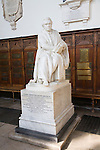Statue of Thomas Macaulay, Trinity College chapel, University of Cambridge, England