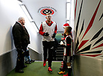 Mark Duffy of Sheffield Utd in from warm up during the Championship match at Bramall Lane Stadium, Sheffield. Picture date 26th December 2017. Picture credit should read: Simon Bellis/Sportimage