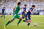 The shorts of Doan Ritsu of Japan (R) is seen torn as he competes for the ball with Ylyasov Vezirgeldi of Turkmenistan (R) during the AFC Asian Cup UAE 2019 Group F match between Japan (JPN) and Turkmenistan (TKM) at Al Nahyan Stadium on 09 January 2019 in Abu Dhabi, United Arab Emirates. Photo by Marcio Rodrigo Machado / Power Sport Images
