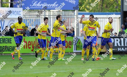 2014-04-13 / Voetbal / seizoen 2013-2014 / Westerlo - ASV Geel / Maxime Annys scoorde de 1-0 voor Westerlo<br /><br />Foto: mpics.be