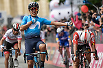 Richard Carapaz (ECU) Movistar Team wins Stage 4 of the 2019 Giro d'Italia, running 235km from Orbetello to Frascati, Italy. 14th May 2019<br /> Picture: Fabio Ferrari/LaPresse | Cyclefile<br /> <br /> All photos usage must carry mandatory copyright credit (© Cyclefile | Fabio Ferrari/LaPresse)