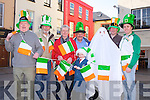 ST PATRICK'S DAY: Member's of the Tralee St Patrick's Day committee inviting you to for the Ceol agus Crac at the Tralee St Patrick's Day parade l-r: Danny Leane, Johnny Wall, Michael Gaffney, Sean Lyons, Emily Stack-Leen, Tom Barrett, Manus Leane and Risteárd Ó Fuaráin.