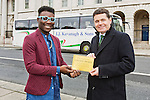 Pictured (L- R)  TimiOgunyemi, Blogger andPaschal Donohoe,Minister for Transport, Tourism and Sport,at the launch of the new tourist initiative 'Trails of Ireland' to support rural tourism. Pic Angela Halpin