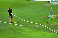 The boundary rope is laid down for day one of the Plunket Shield cricket match between the Wellington Firebirds and Otago Volts at Basin Reserve in Wellington, New Zealand on Monday, 21 October 2019. Photo: Dave Lintott / lintottphoto.co.nz