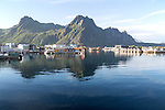 Harbour at Svolvaer, Lofoten Islands, Nordland, Norway