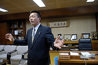 "Kuzumaki Mayor Shigeo Suzuki. Kuzumaki in Northern Japan bills itself as a town of ""Milk, wine and clean energy"". The 8000 population town has little local industry so Kuzumaki invited Japanese companies to set up wind, solar and biogas generating plants."