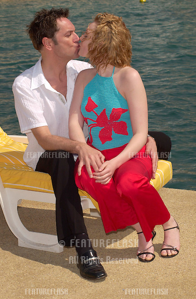 Former model KELLY HARRISON (star of BBC's Paddington Green & Casualty) & actor/comedian BRIAN CONLEY in Cannes to promote their new movie Dream..13MAY2001.  © Paul Smith/Featureflash
